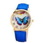 Красив дамски часовник с мотив пеперуда